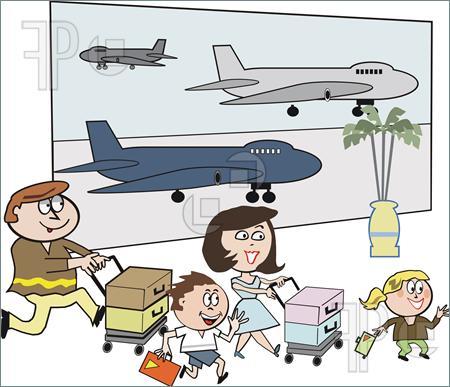 Family-Airport-Cartoon... Airport Cartoon Images