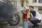 kid chores washing car
