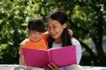 Mom & Girl Reading